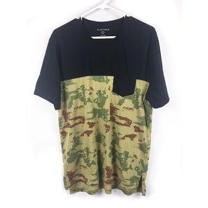 Five Four Tee Black Camo 2 Tone T-shirt Size Large